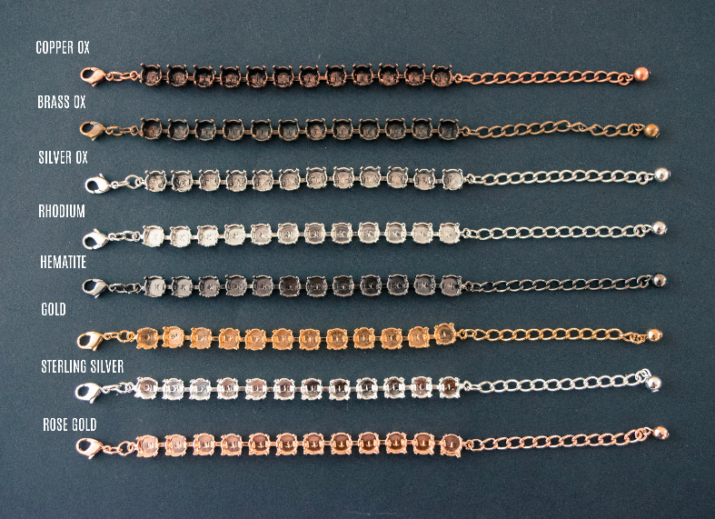 8.5mm (39ss) 12 Box Bracelet offered in all eight finishes